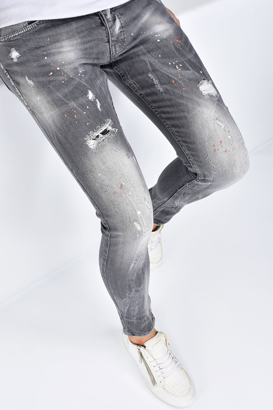 Super Skinny Fit Jeans Gray - U9549