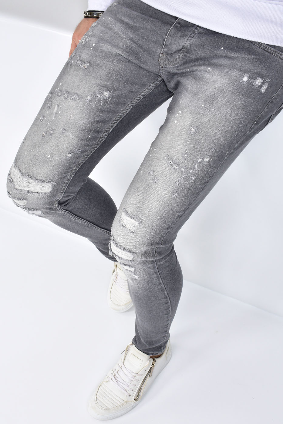 Super Skinny Fit Jeans Gray - U9562